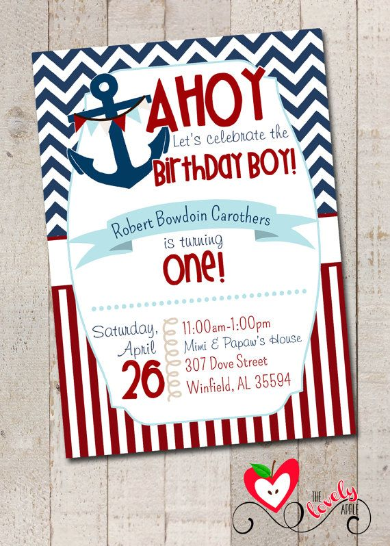 Nautical Birthday Boys On Pinterest Nautical Birthday