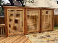 outdoor privacy panels and privacy screens | Redwood ...