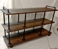 "Industrial TV Stand, Iron and Wood, for 46"" to 52"" TVs"