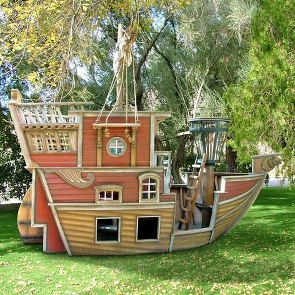 Pallet Playhouse Ideas Kids Playground Garden Decor Ideas Recycled