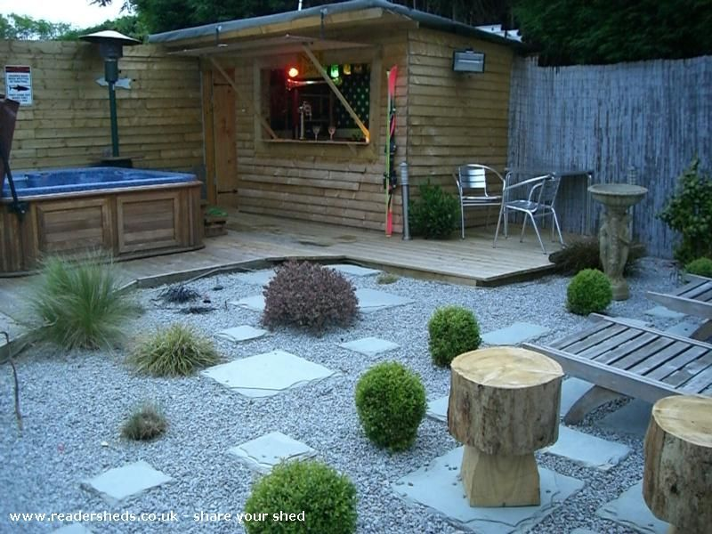 Bar Shed A Great Idea With The Back Corner Of Your Yard You Don