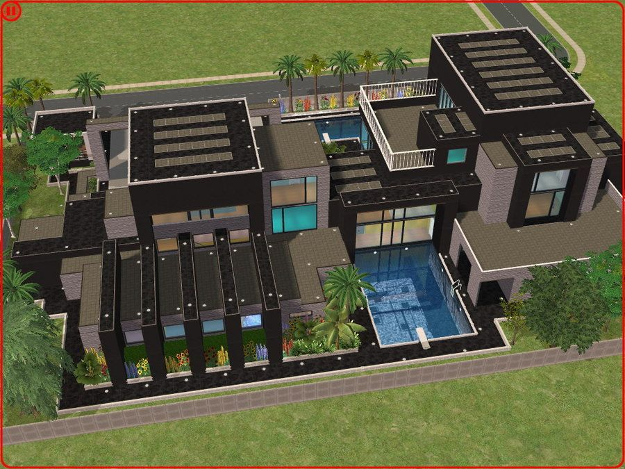 Sims 2 Ouse Sims 2 Modern Dream House By RamboRocky On