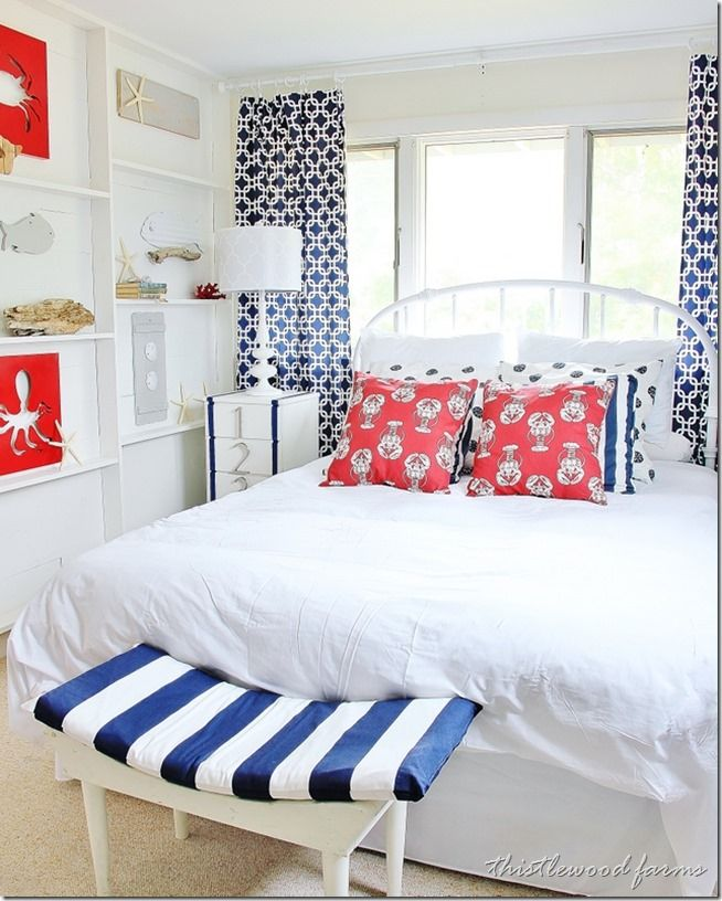 Before And After Beach House Bedroom Nautical Bedroom Coastal