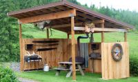 Covered picnic shelter/ outdoor kitchen area | Hay burners ...