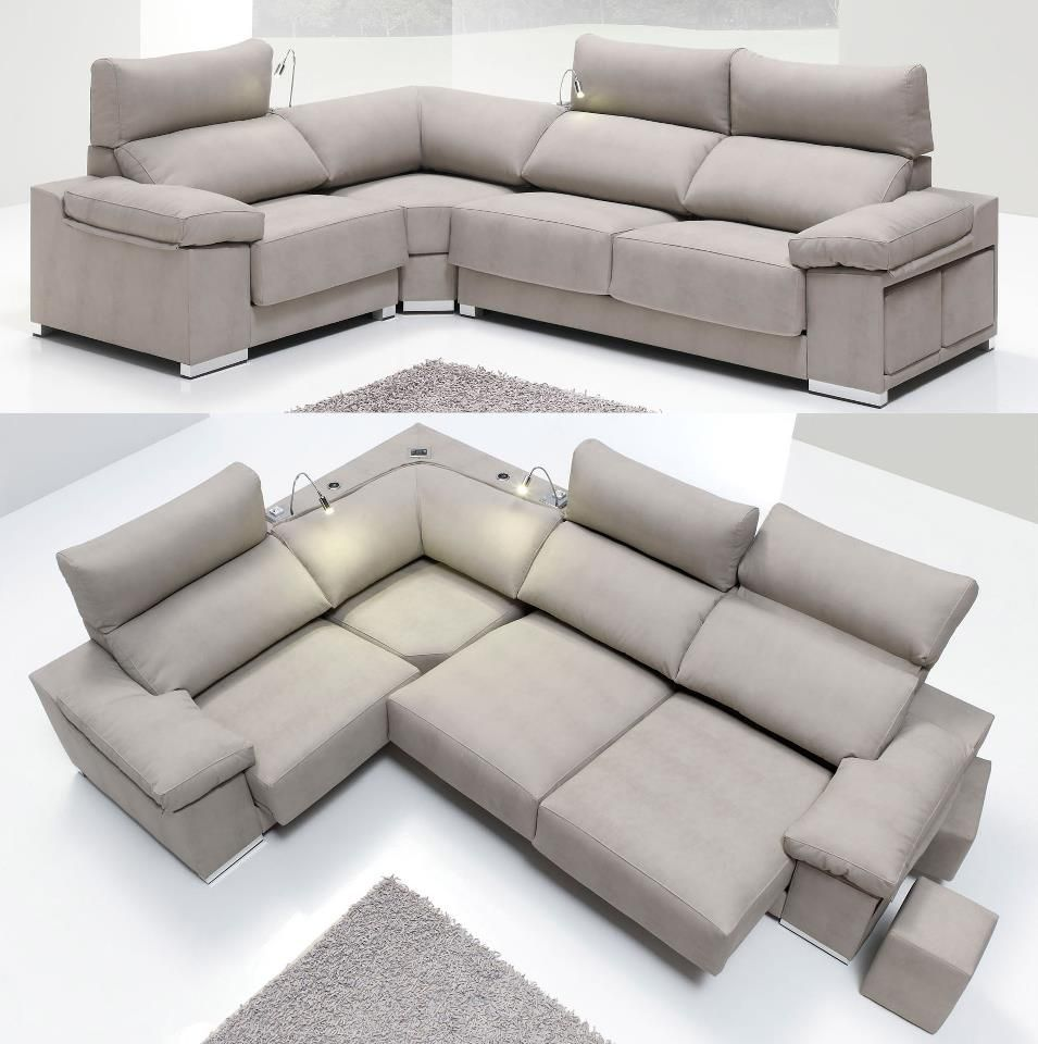 Sofa cama rinconera chaise longue for Sofas piel barcelona