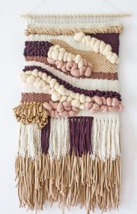 Woven wall hanging | Woven wall weaving | Woven tapestry ...