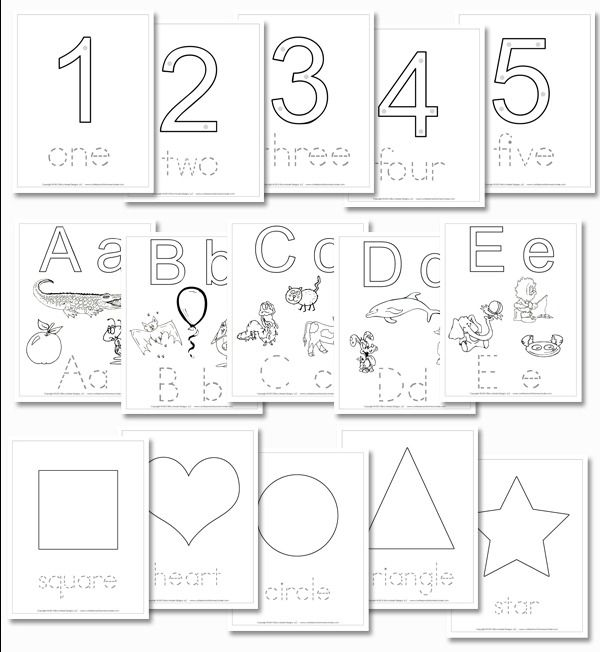 Preschool Daily Learning Notebook numbers, shapes, and