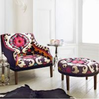 patterned chair and ottoman | Beautiful Spaces / Beautiful ...