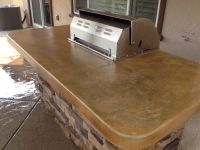 Acid stained concrete countertops with mat finish sealer ...