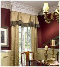 dining room window treatment | Curtain ideas, blinds etc ...