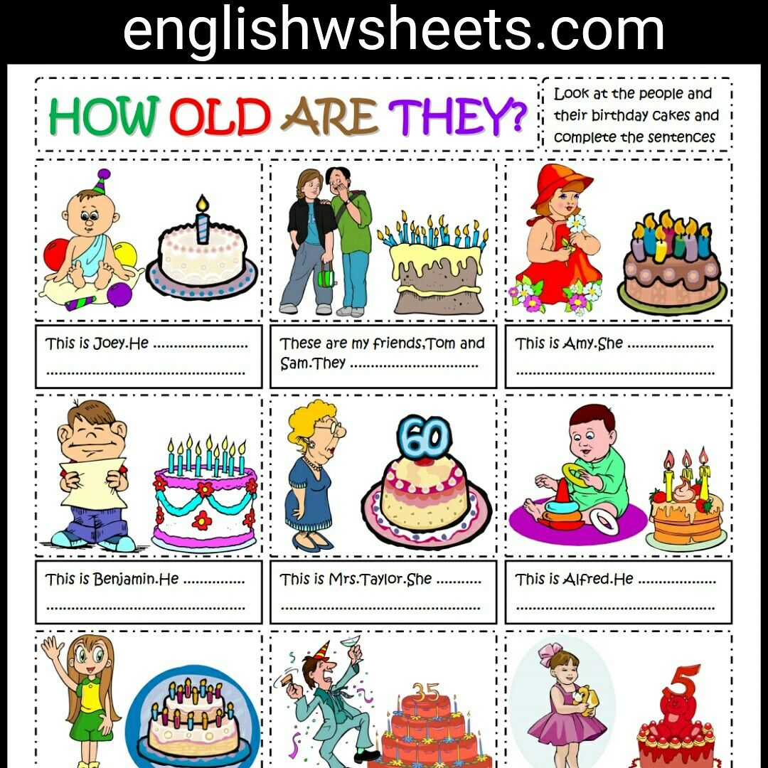 Talking About Age Esl Printable Worksheet For Kids