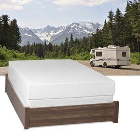 Select Luxury Home Rv 8 Inch Full Short Size Memory Foam Mattress Black Night