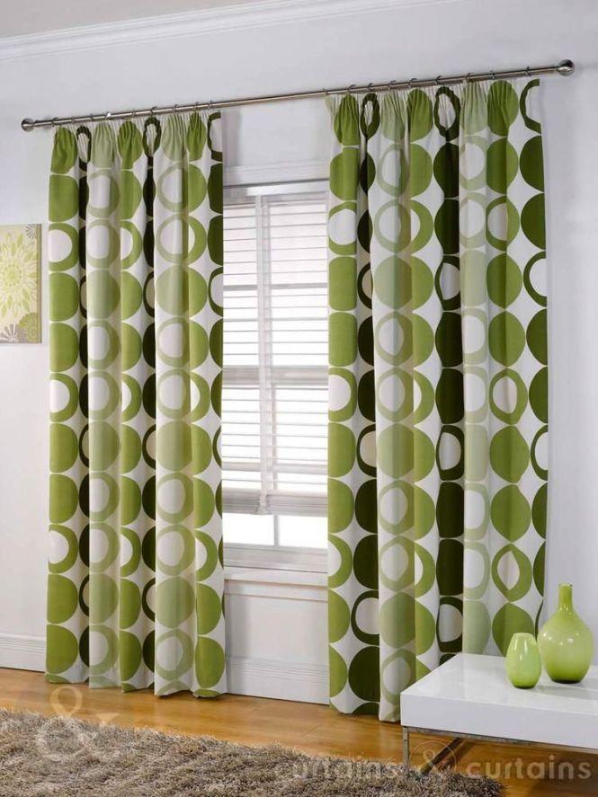 Halo Panama Green Pencil Pleat Curtain Curtains Uk