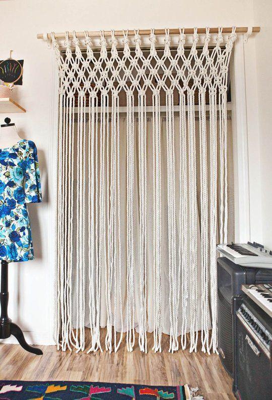 DIY Room Decor Make Your Own Macrame Curtain Beautiful Macrame