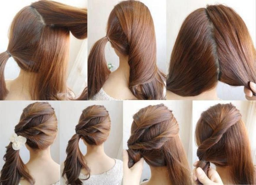 Easy Hairstyles For Long Hair To Do Yourself Diy Easy Ponytail