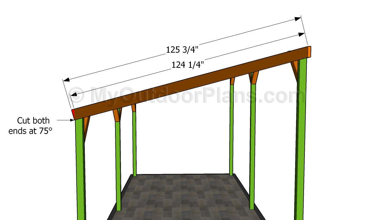 Learn To Build A Patio Cover Attached To An Existing Building Such As A Garage Lean To Shed Plans Lean