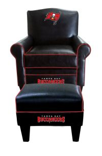 Tampa Bay Buccaneers NFL Game Time Chair With Ottoman ...
