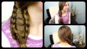 ladder braid side ponytail