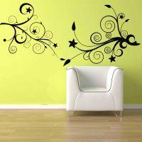 Flower Floral Swirl Deco wall Mural Vinyl Sticker Decal ...