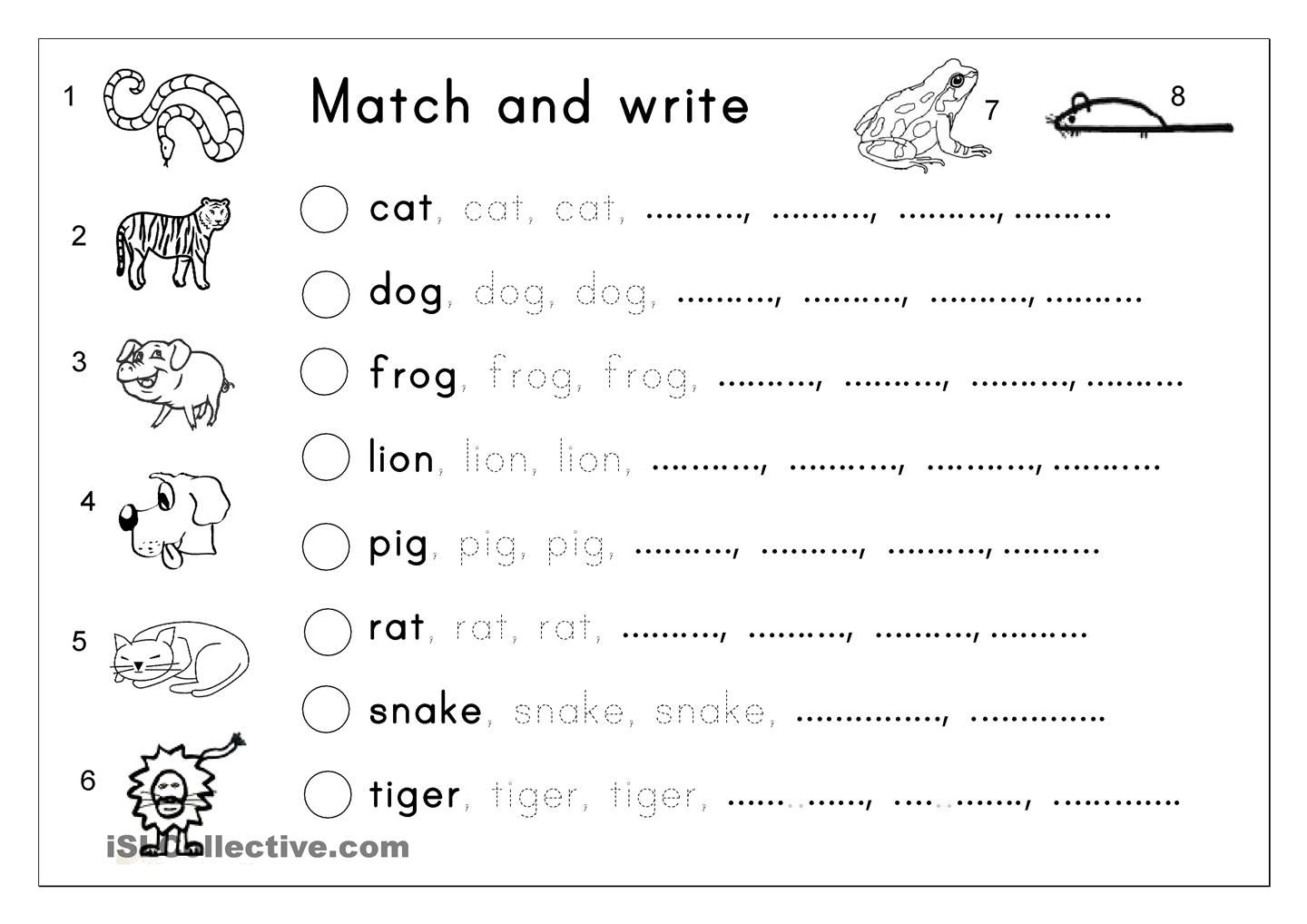 Matching Letter Tracing Writing
