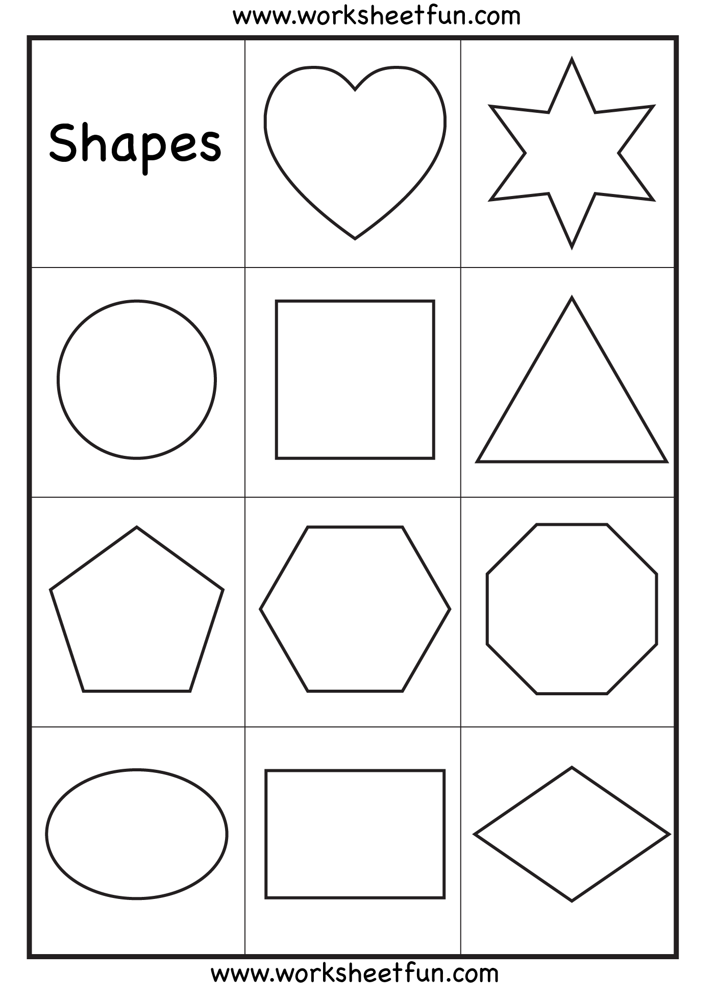 Preschool Shapes Upper Case Letters And Lower Case