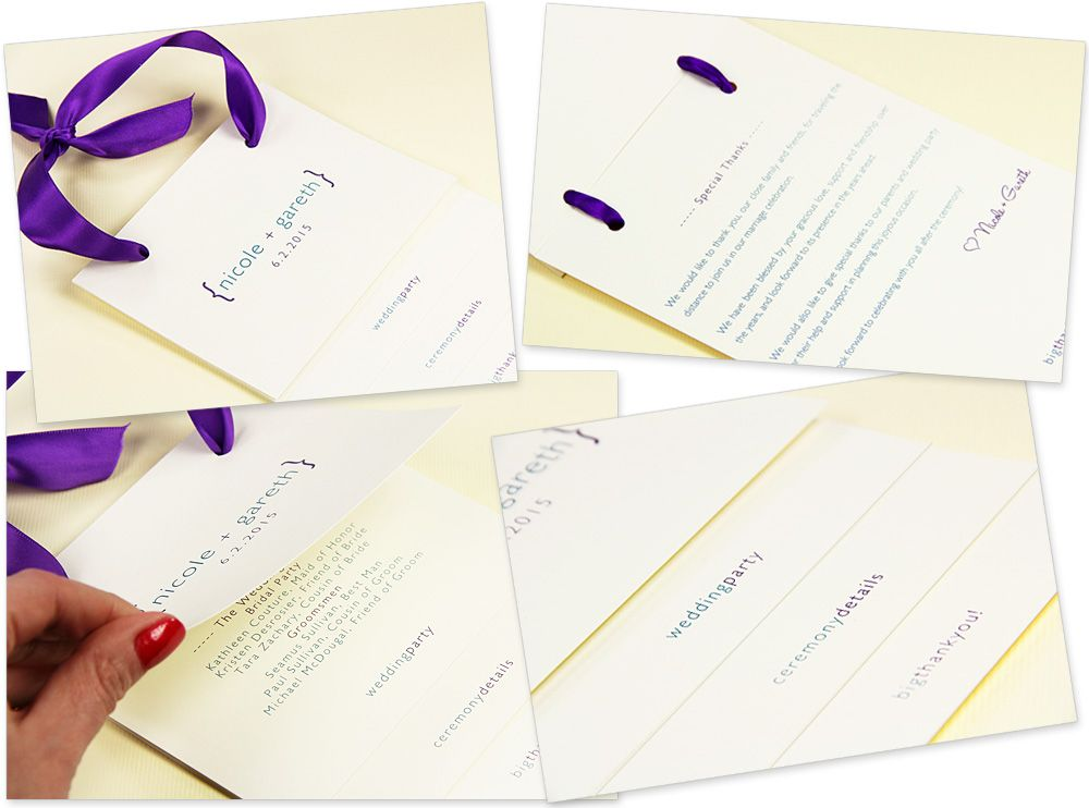 Pre Cut Ribbon Wedding Invitations