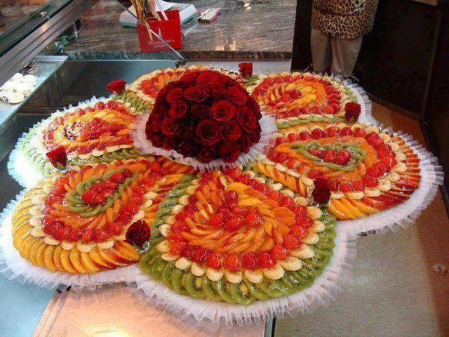 Fruit Decoration Ideas Flower Fruit Salad Wedding Reception