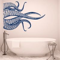 Octopus Tentacles Wall Decals For Bathroom - Sea Animals ...