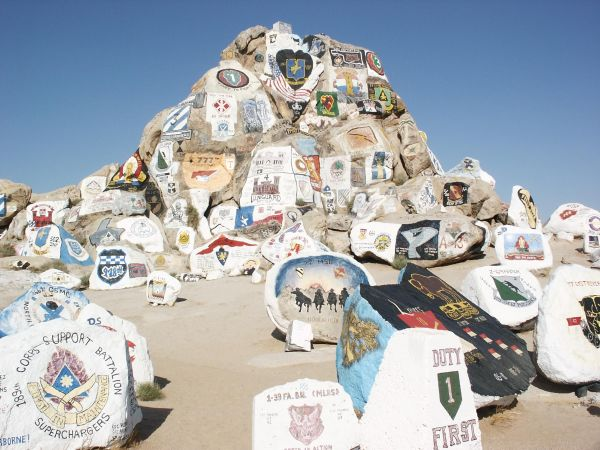Fort Irwin Military Reservation Fort Irwin Painted Rock