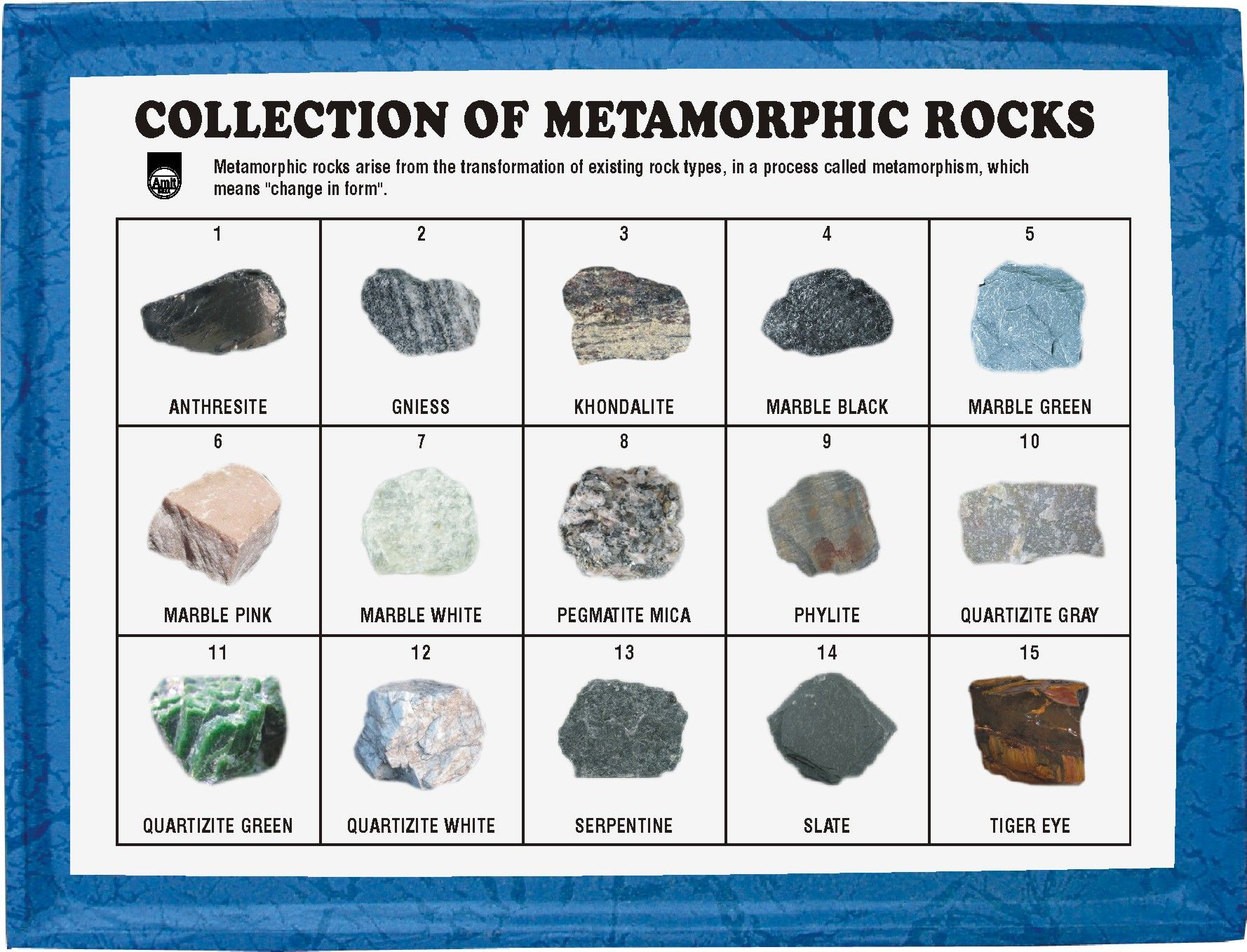 Mr15pm Collection Of 15 Metamorphic Rocks Pm