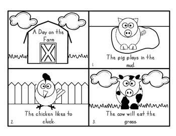 This cute, 8 page farm booklet is great for pre-k, k, and