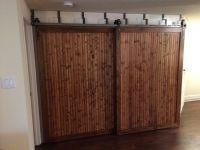 DOUBLE TRACK By-Pass System Barn Door Hardware kit w/ 8 FT ...