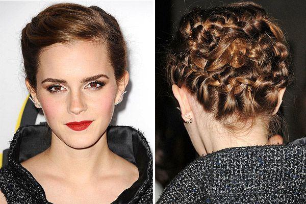 Emma Watson Prefiere El Recogido Emma Watson Trenzas