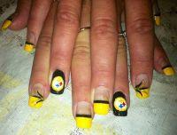 Steeler nails | Steelers | Pinterest | Sports nail art ...