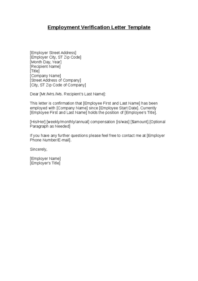 Letter confirming employment free download spiritdancerdesigns