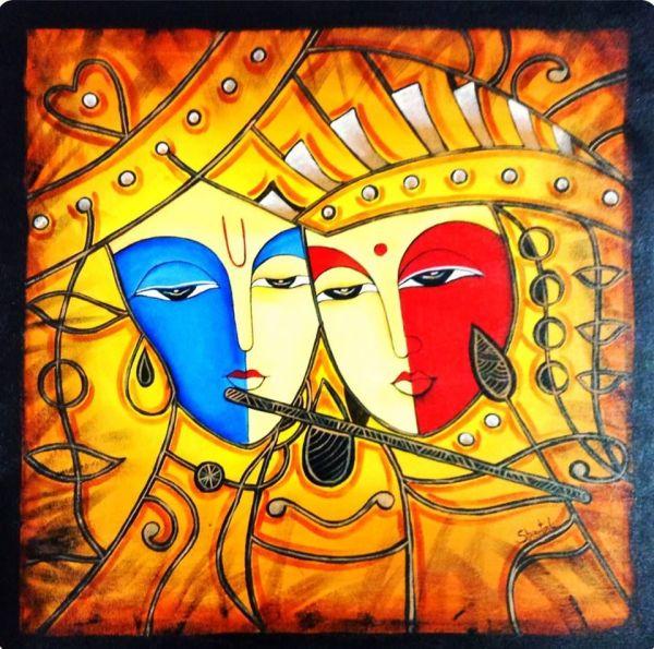 Radha Krishna Painting Modern Art