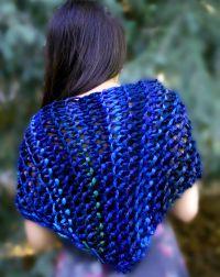 Triangle Shawl - kb zippy loom pattern | Ponchos, Scarves ...