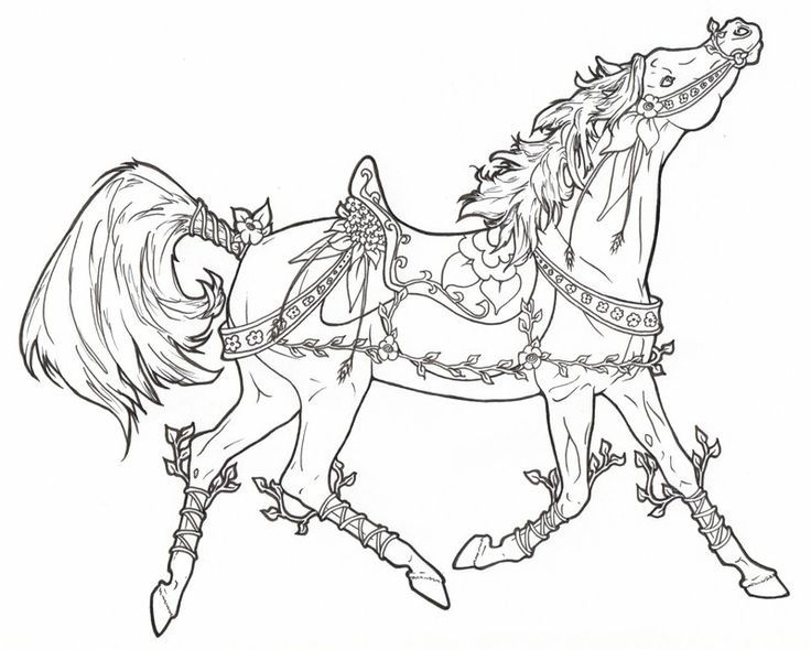 Carousel Horse Vines N Flowers By Requay On Deviantart