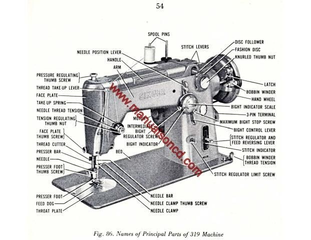Singer 319 Sewing Machine Manual. Singer Automatic Swing