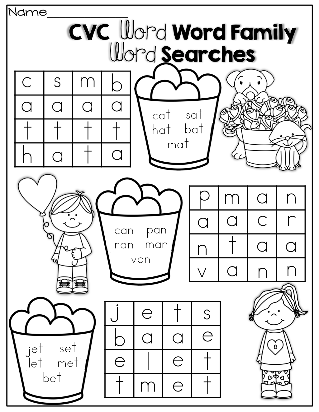 Simple Cvc Word Searches