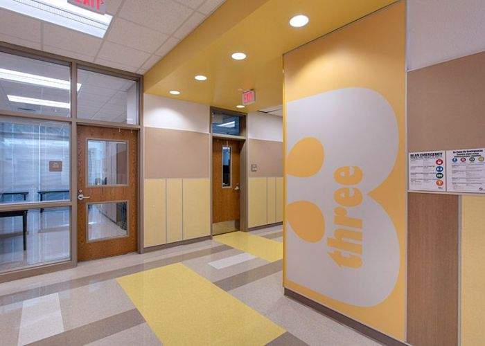 Carver elementary school wall panel system also interiors pinterest