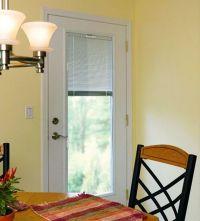 Single Patio Door With Blinds Between