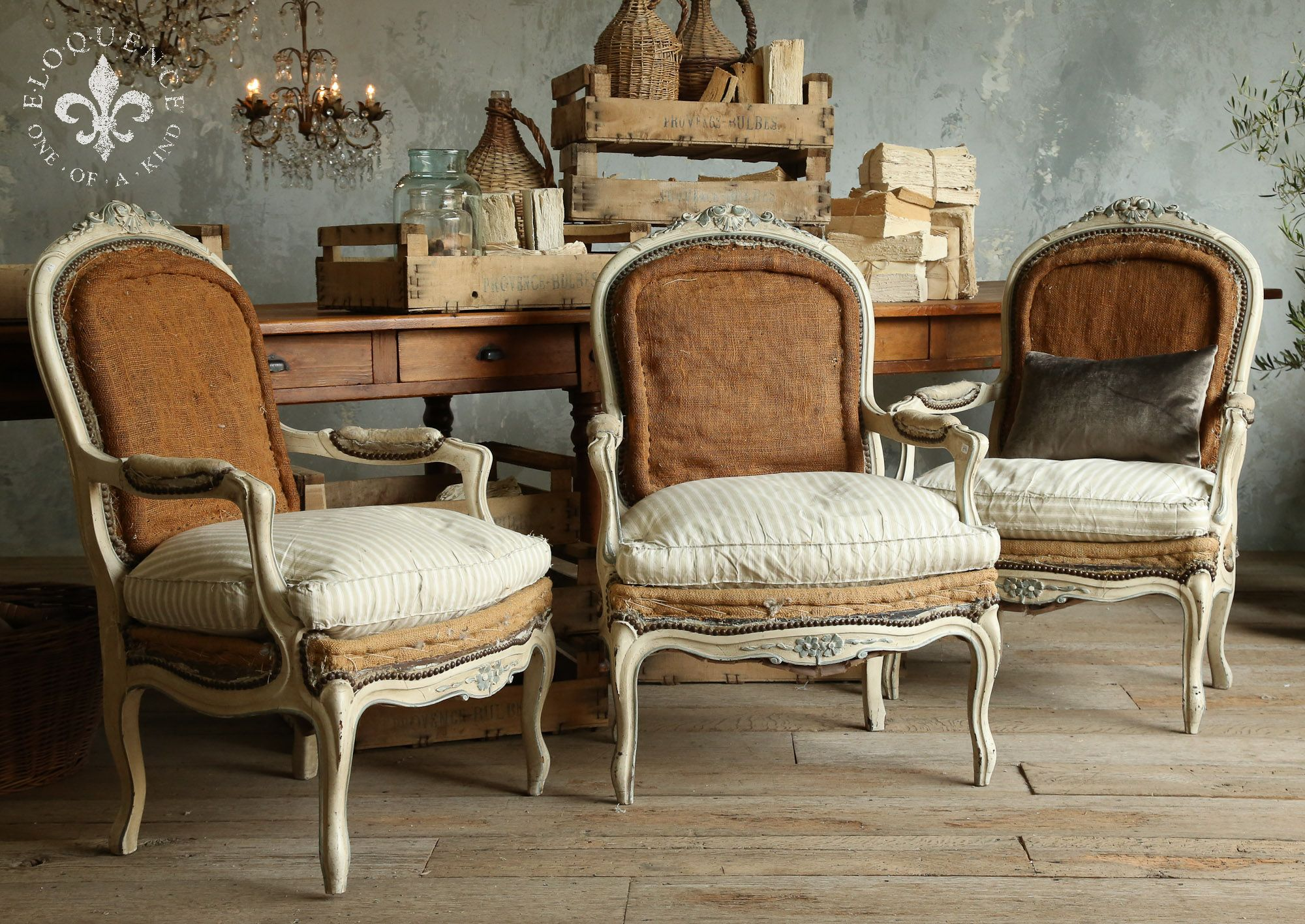 burlap chair covers for sale cover hire bournemouth pair of large french louis xv style armchairs in original