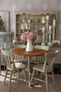 Shabby Chic Round Dining Table and 4 Chairs | Round dining ...