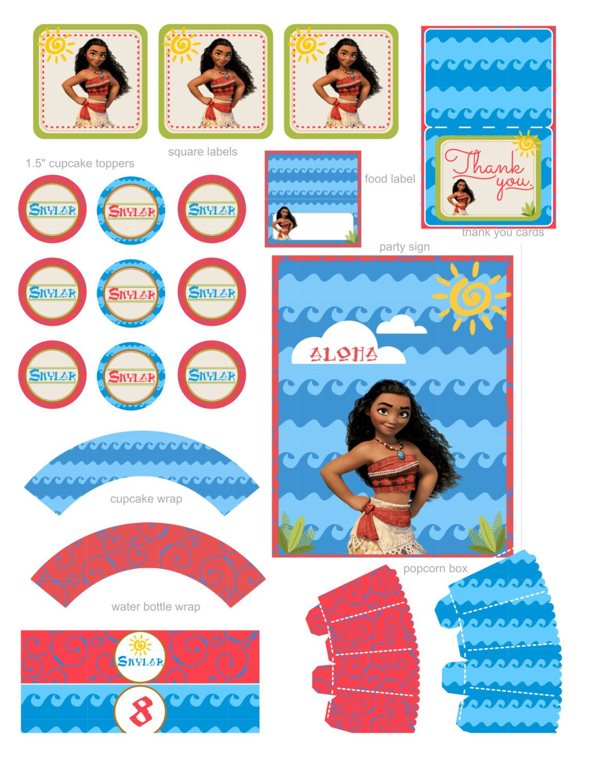 3 Of 4 Etsy S Sy Listing Moana Birthday Moana Party Moana