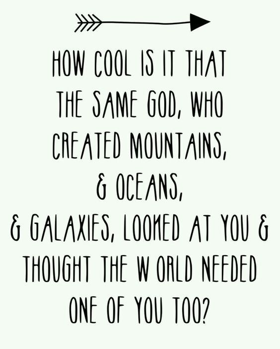 How cool is it that the same God, who created mountains