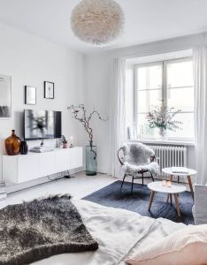 Studio apartment decoration  design ideas with the advantages feminine in stockholm also rh pinterest