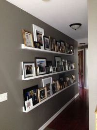 Gallery Wall for a Long Hallway | Photo ledge, Long ...