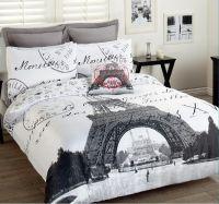 Paris Eiffel Tower Comforter Set | ... 3pcs Double Bed ...