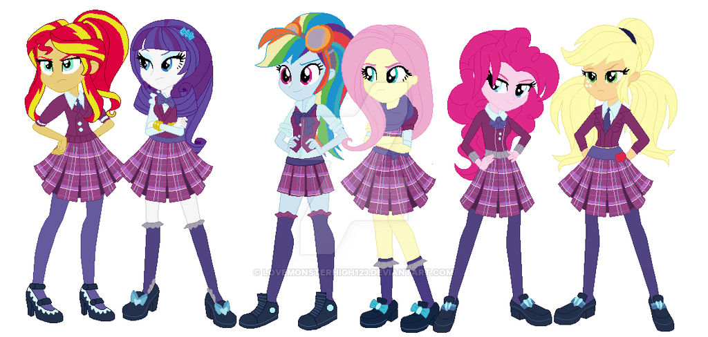 Mlp Equestria Girls Mane 5 Base